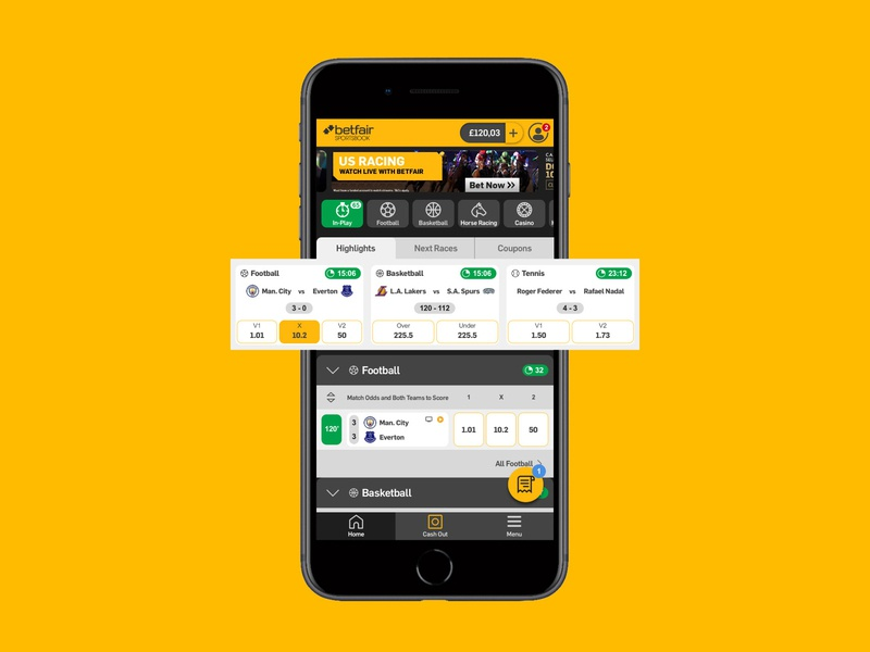 Betfair Sportsbook - Mobile UI Concept by André Martins on