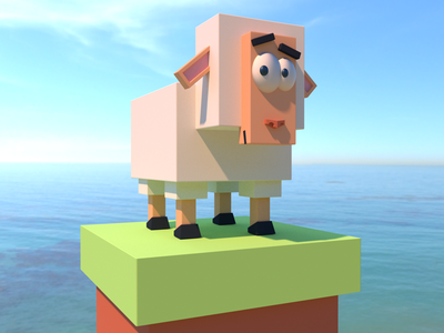 lowpoly sheep sheep poly low lowpoly