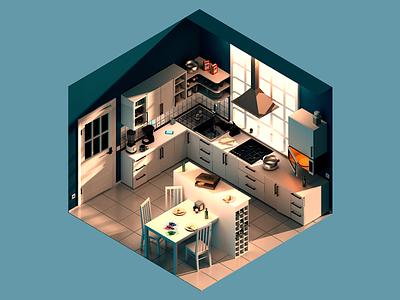 isometric kitchen illustration isometry kitchen isometric