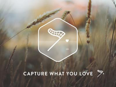 Capture What you Love capture branding photography logo net heart