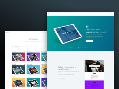 New Qwilr Landing Pages gradient color website ui page layout landing branding