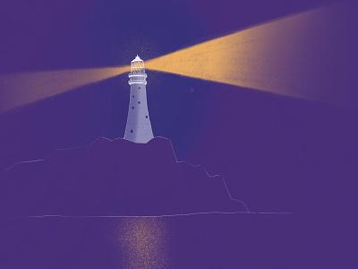 Lighthouse illustration ipadpro color procreate sketch