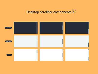 Desktop Scrollbar components windows scrollbar product ui design system component xd figma sketch freebie xd freebie free