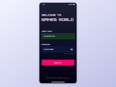 Login page for gamers daily 100 ui pack sketch game art pattern galaga gradient button graphic ux daily ui signup login game gamer gif app game app ui graphic design
