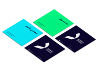 Business Card Blu Green Minimal
