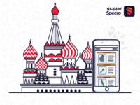Illustration Russian Castle Phone app 2018