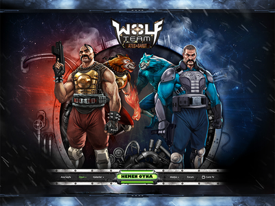 PC Game, Wolfteam - Web Design