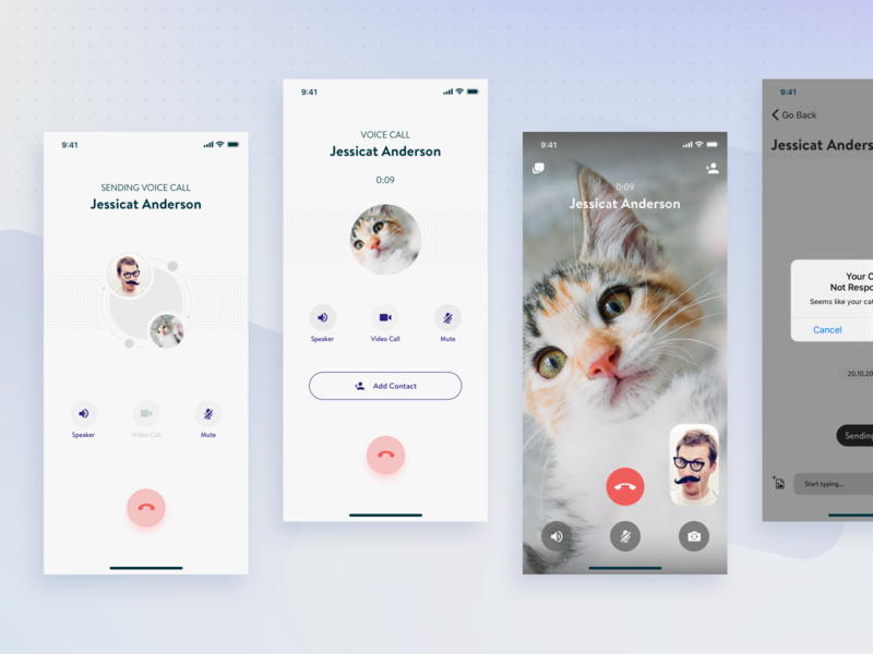 Intranet Messenger - Video & Voice Call Flow teb-messenger conversation video conferencing conference video chat video call voice call ui design chat app chat messenger app messengers messenger mobile mobile app mobile app design mobile app experience ui ux ux design