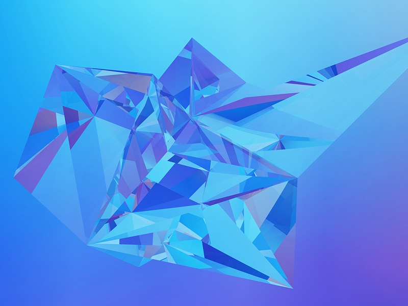 Diamonds – Low Poly Refraction Backgrounds