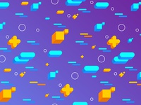 Abstract Flat 3D Shapes Backgrounds