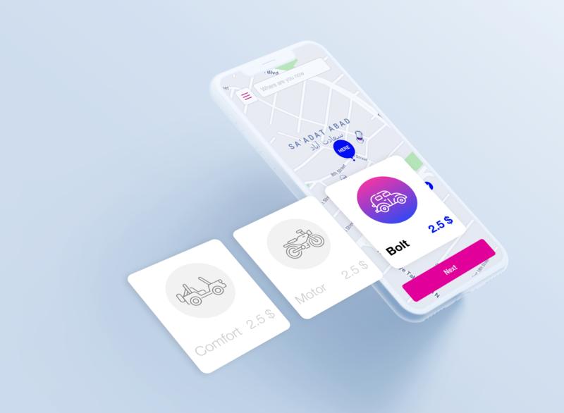 UI Design for a taxi service