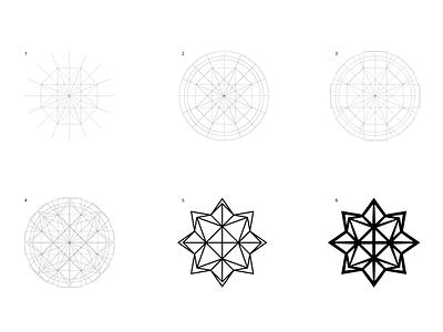 Polyhedron / Construction visual logo graphic design leonardo da vinci geometry construction grid polyhedron identity visual identity