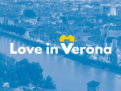 Love in Verona verona city image corporate graphic design visual graphic brand logo identity