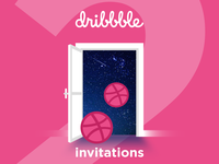2 Dribbble invitations