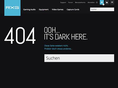 ROXXGAMES 404 Page rxg gaming 404 error dark ooh skullcandy killerfish astro gaming scuf gaming