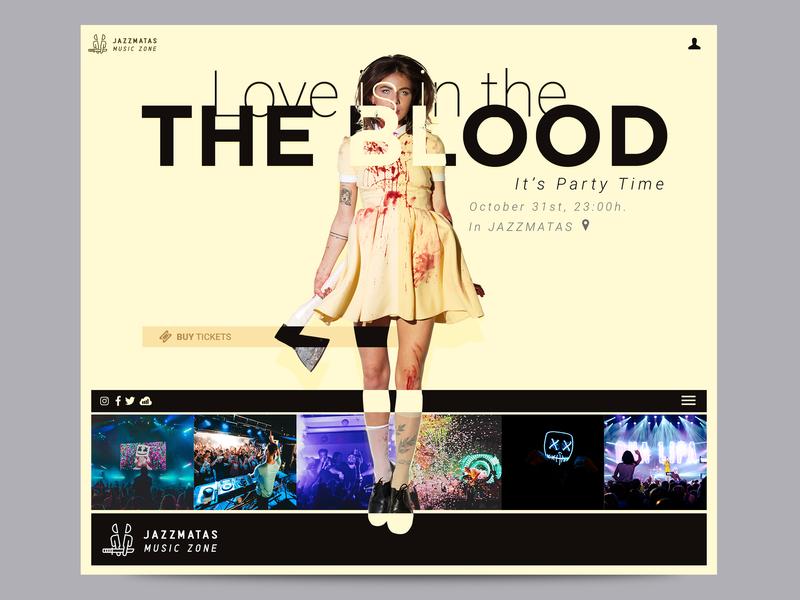 It's party time landing design web ui layout