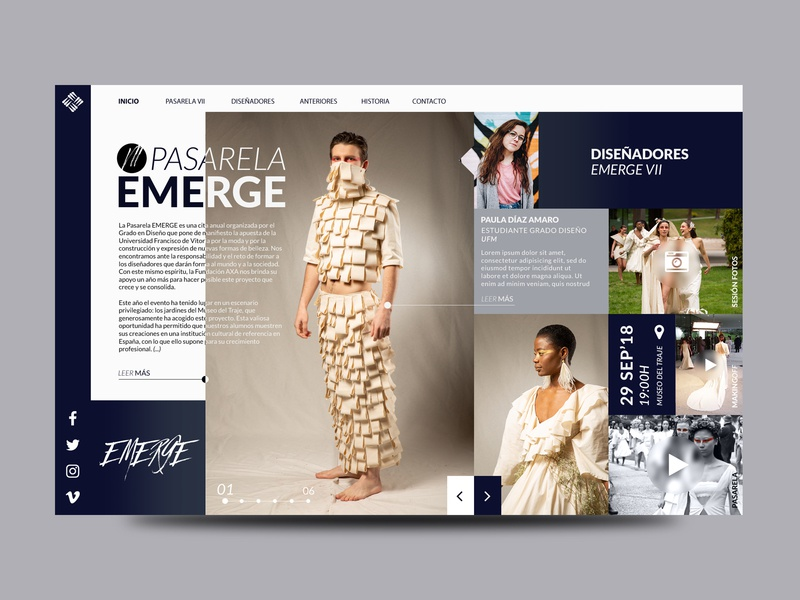 Pasarela Emerge ui web design layout landing