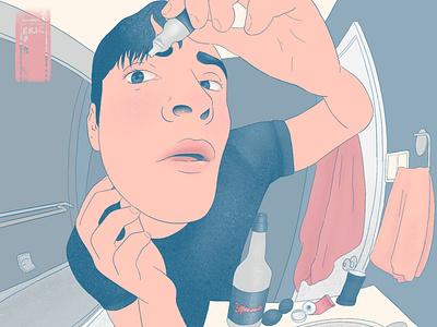 Bathroom Eyedropper procreate design illustration