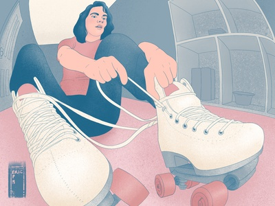 Quarantine Roller Expedition picame digital art woman illustration design procreate