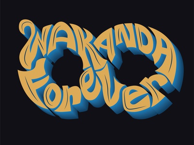 Wakanda Forever sketch adobe illustration artwork design art illustrator marvelcomics logo lettering typography blackpanther wakanda