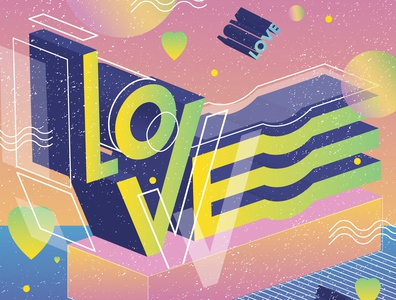 Love Lettering love type font lettering art colorful typography adobe illustrator illustration