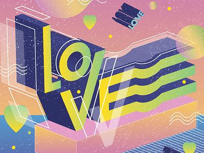 Love Lettering love type font lettering art colorful typography adobe illustrator illustration