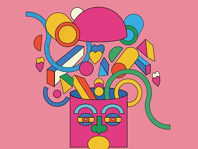 Artboard 10head head love bauhaus geometic face portrait artwork design art adobe illustrator illustration