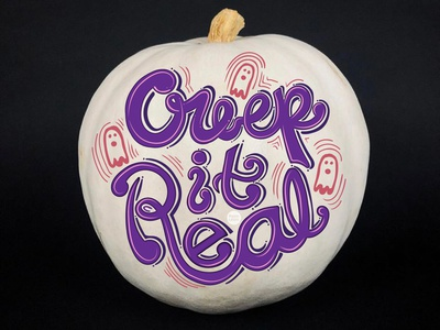 Creep it real - Halloween ghoul creepy creepitreal font typography lettering art lettering pumpkin halloween dribbbleweeklywarmup