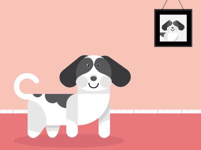Cute Dog! cat artwork art process work cutedog photoshop illustrator adobe illustration dog