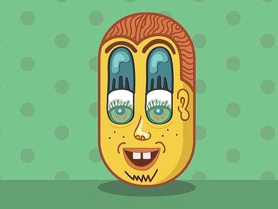 Meditation Pill - Zombie Dude pattern line art high zombie face vector design illustrator illustration
