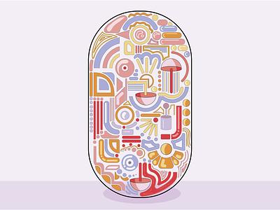 Meditation Pill - World of Shapes art design flat 3d flat  design graphic  design graphic art adobe illustration illustrator