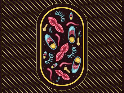 Meditation Pill - Spooky artwork logo ux typography vector branding ui art adobe illustrator illustration design halloween design halloween