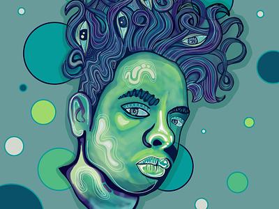 Mendusa wacom intuos portrait adobe art design illustration illustrator