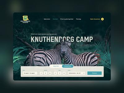 Mock up – Knuthenborg Safaripark landing page design graphic design ui