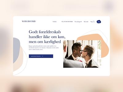 Wawawomb – Fertility website content page design website fertility