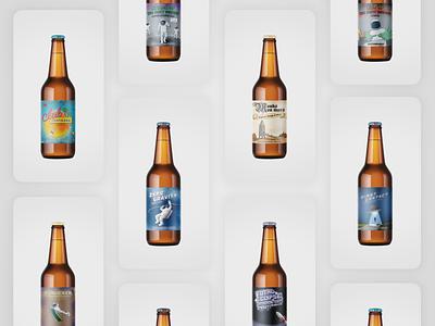 Beer labels comic illustration space beer packaging design labeldesign labels