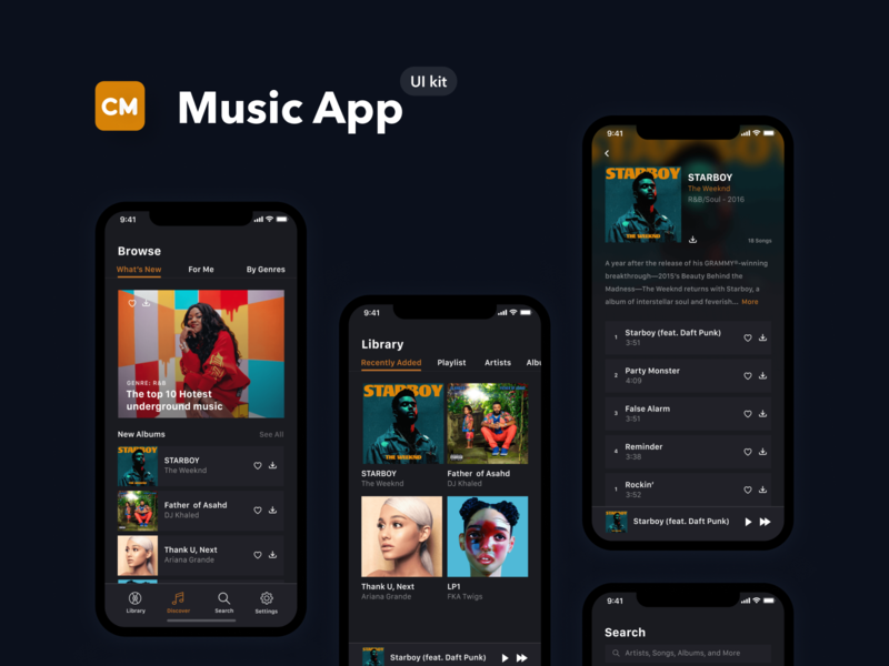Checkmate iOS Mobile UI Kit music ios music app ui music app figma daily ui dailyui mobile ui kit mobile ui mobile app ux ui kit uiux ui