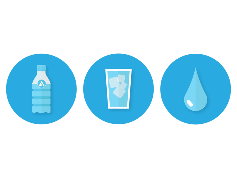 Water Icons web icon icon pack icon set illustrator blue water icons icons icon water