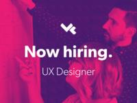 Now Hiring - UX Designer