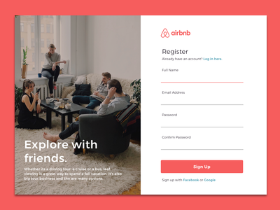 Airbnb Sign Up Page - Day 1 UI Challenge airbnb signup ux ui uichallenge day1