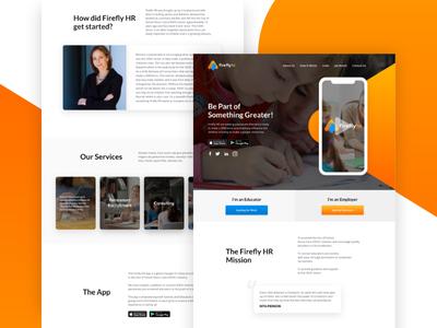 Firefly HR Homepage Design