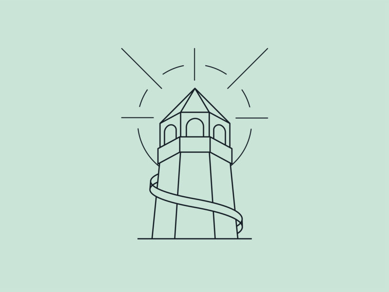 Spanish City Helter Skelter helter skelter illustration flat spanish city whitley bay