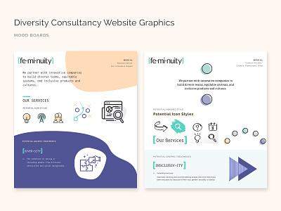Diversity Consultancy Website Mood Boards branding ui graphic design web design web style tile mood board