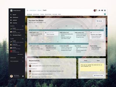 Dashboard for an Education Management Software ui product design uiux design