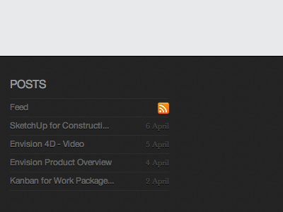 Posts in the footer footer posts blog rss minimal ennova