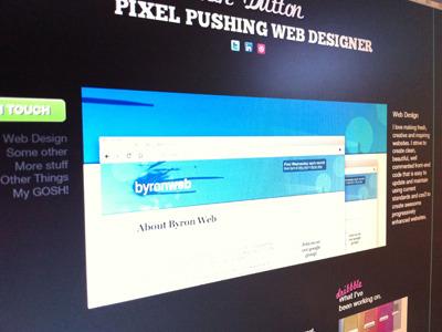 Photo of my screen portfolio fonts