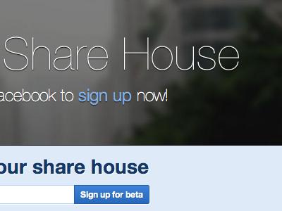 Share House housemates events app application web app