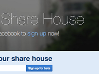 Share House housemates events app application web app