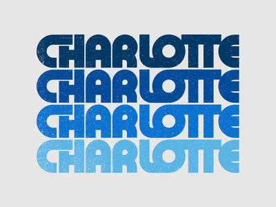 Charlotte Chunky Type chunky illustration 704 blue texture type vector retro thick lettering charlotte