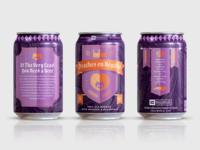 Peaches en Regalia Beer Can Design